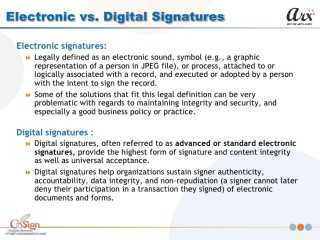 Digital Signatures: The Law and Best Practices for Compliance